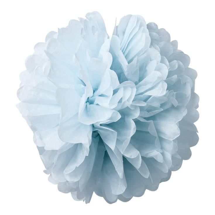 AF 2 paper pompons sky blue 40 cm & 50 cm