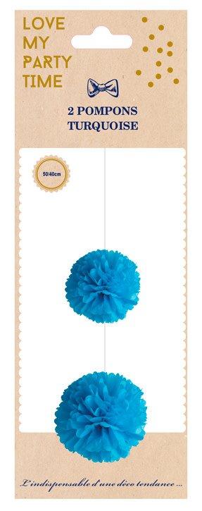 AF 2 paper pompons dark blue 40 cm & 50 cm