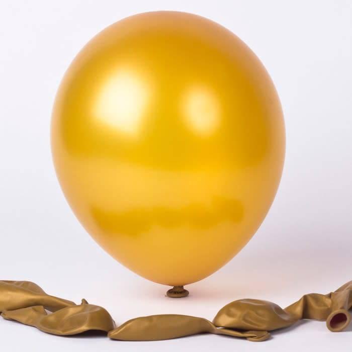 AF 10 golden latex balloons 26 cm