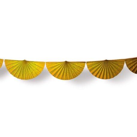 AF paper fan garland ocher 3 m