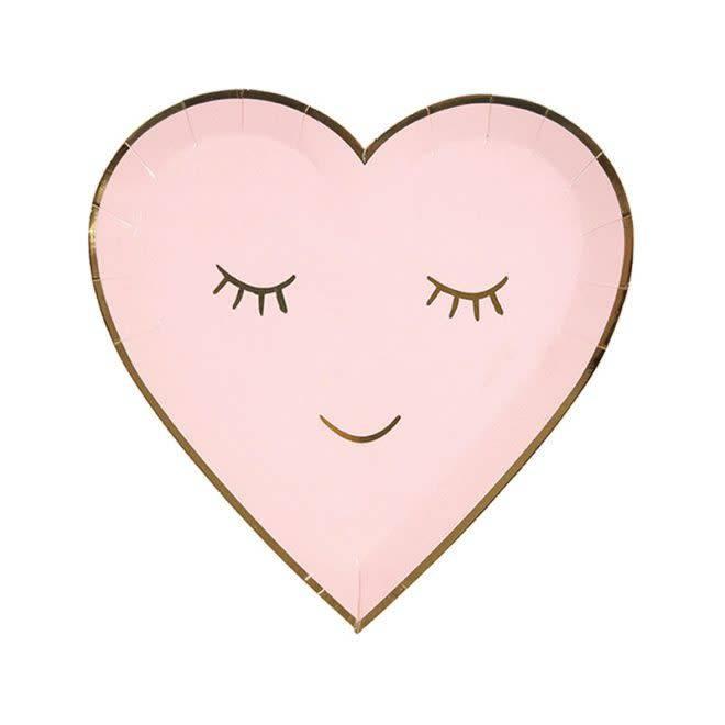 MERIMERI Blushing heart plates