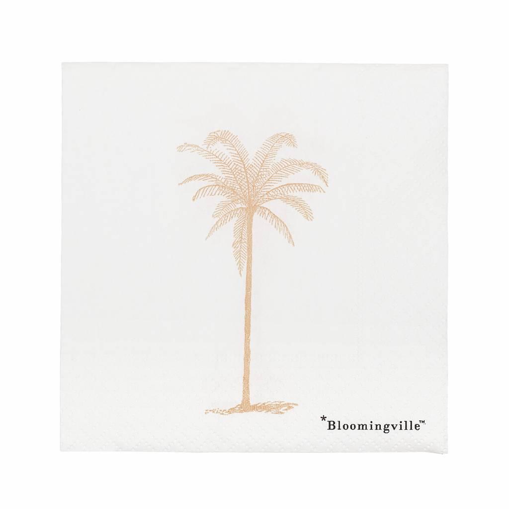 BLOOMINGVILLE peach palmtree napkins 20 pieces