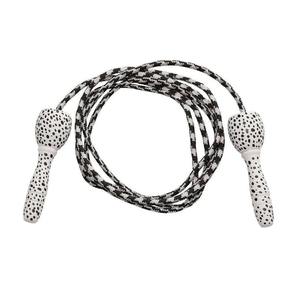 BLOOMINGVILLE jumping rope white/ black dots