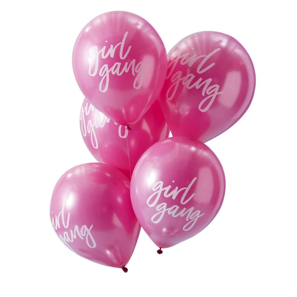 GINGERRAY pink girl gang balloons - good vibes