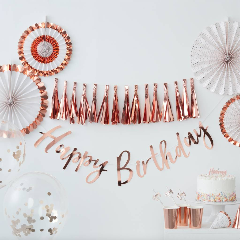 GINGERRAY rose gold yay! paper straws - pick & mix