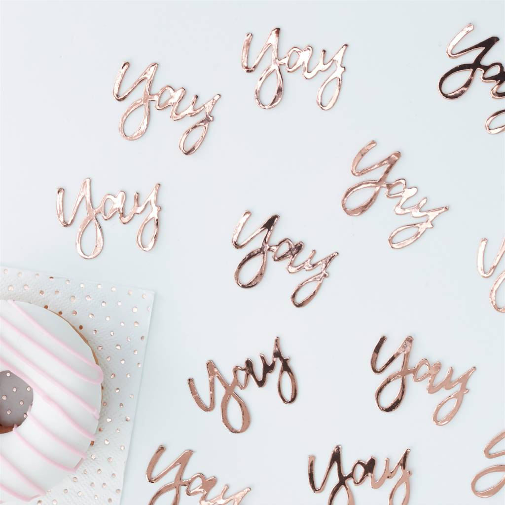 GINGERRAY rose gold yay! confetti - pick & mix
