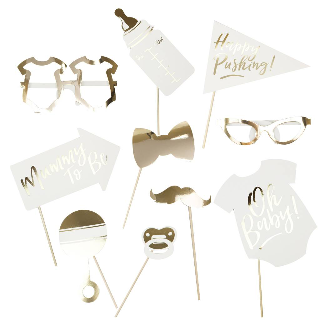 GINGERRAY gold foiled photo booth props - oh baby!