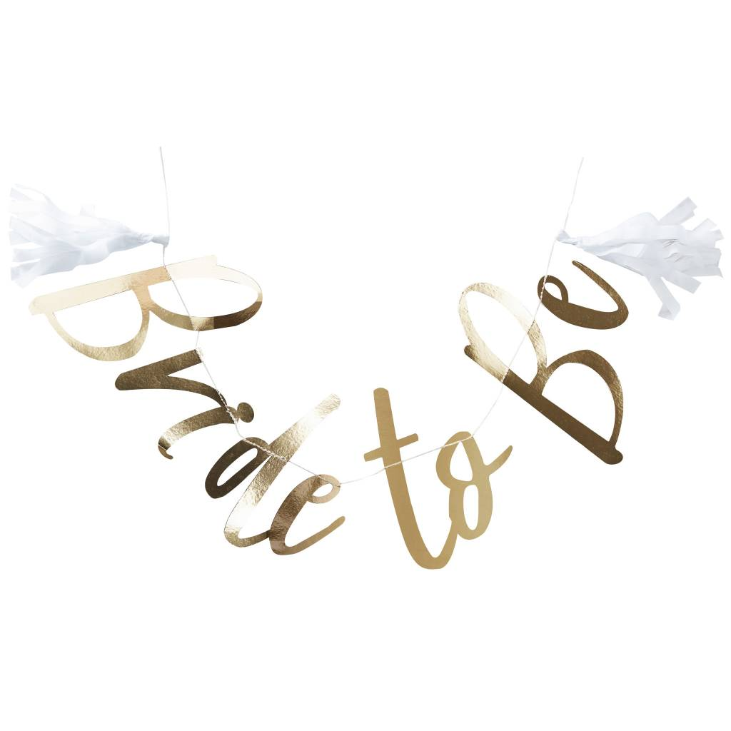 GINGERRAY gold foiled bride to be bunting - I do crew