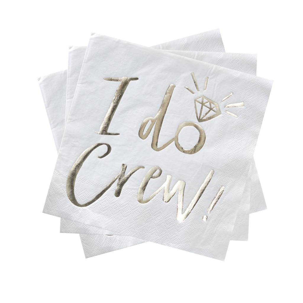 GINGERRAY gold foiled I do crew foiled paper napkins - I do crew