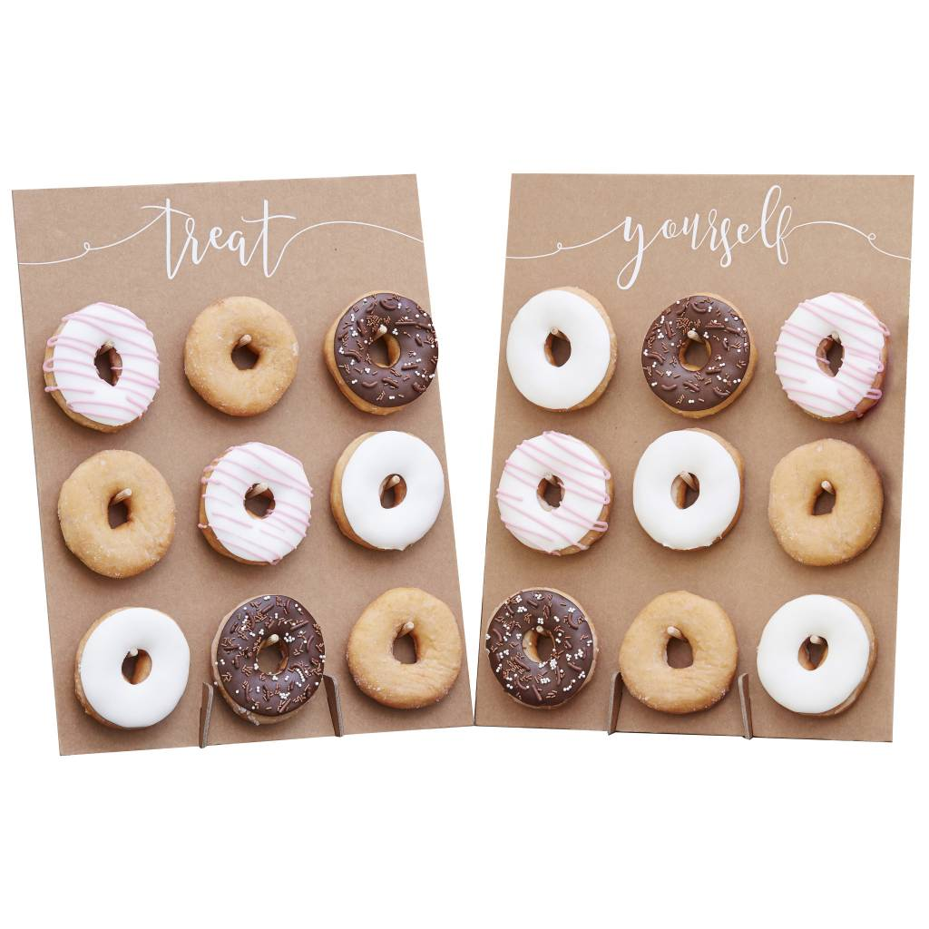 GINGERRAY donut wall cake alternative - rustic country
