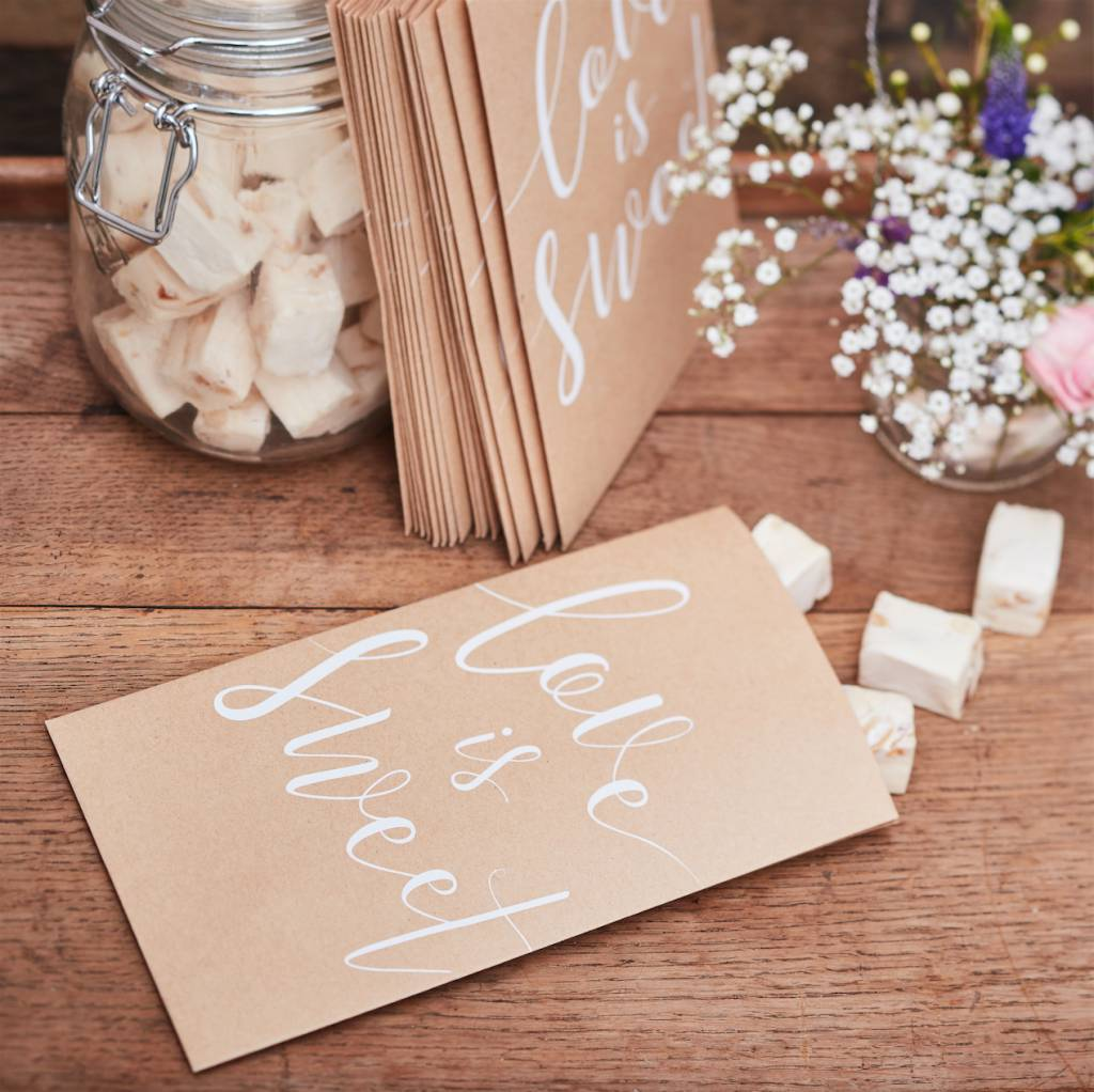 GINGERRAY love is sweet treat bags - rustic country