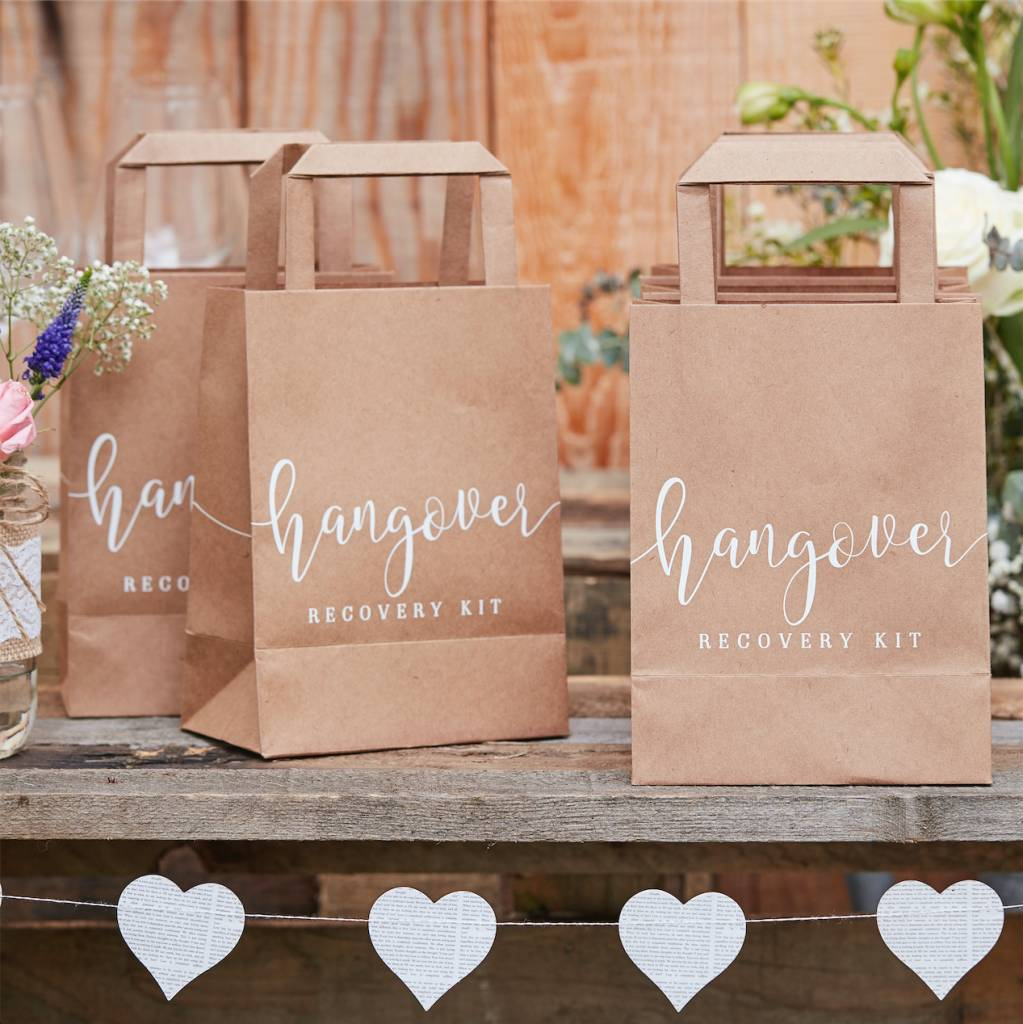 GINGERRAY hangover recovery kit bags - rustic country