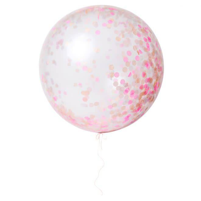 MERIMERI Pink giant confetti balloon kit