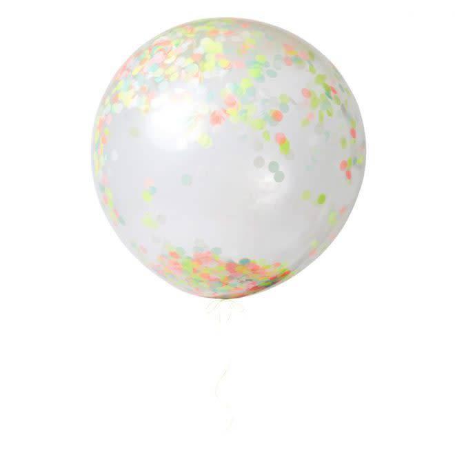 MERIMERI Neon giant confetti balloon kit