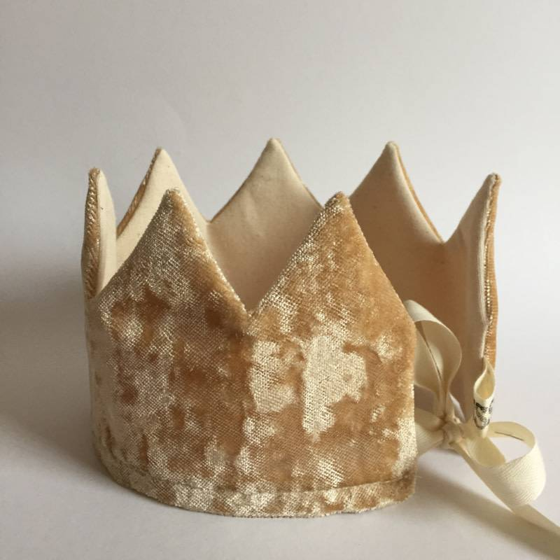 SUUSSIES crown fabric gold felt