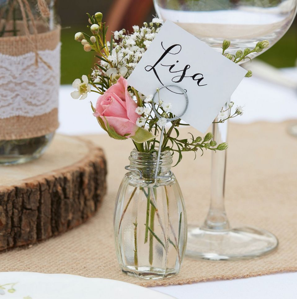 GINGERRAY GLASS PLACE CARD HOLDERS - RUSTIC COUNTRY