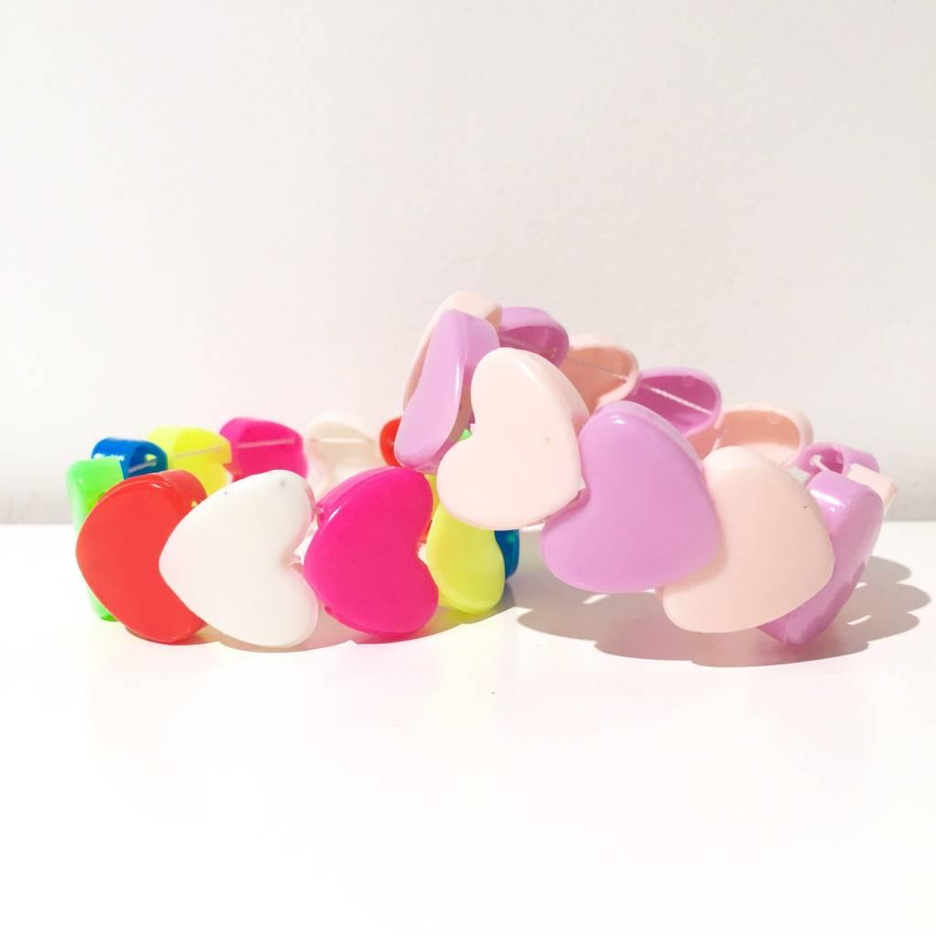 AG elastic heart kids bracelets