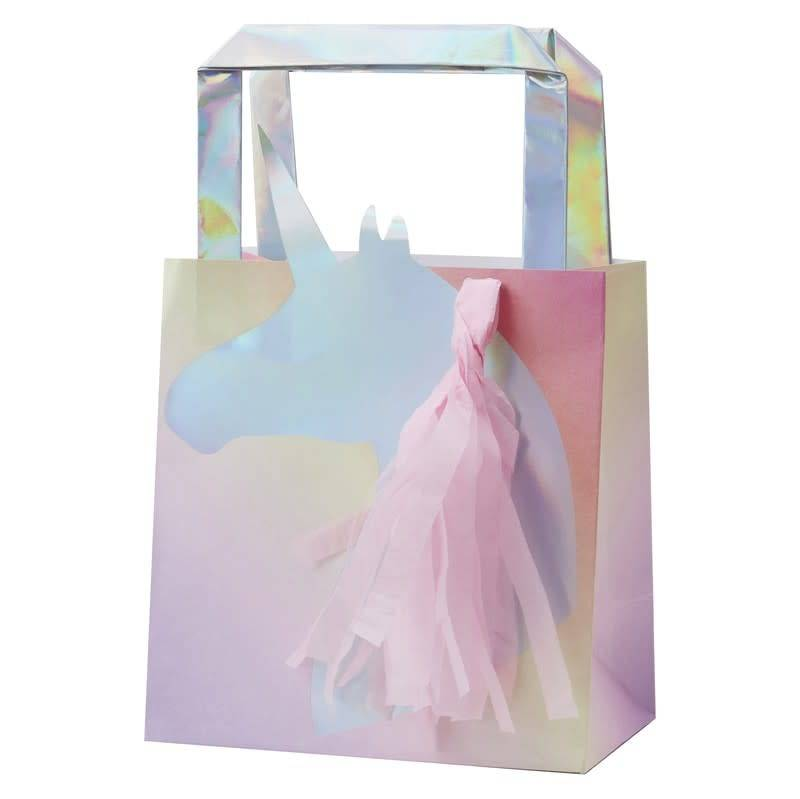 GINGERRAY Iridescent Foiled Unicorn Tassel Party Bag - Make A Wish