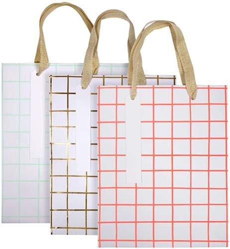 MERIMERI Grid gift bags size medium