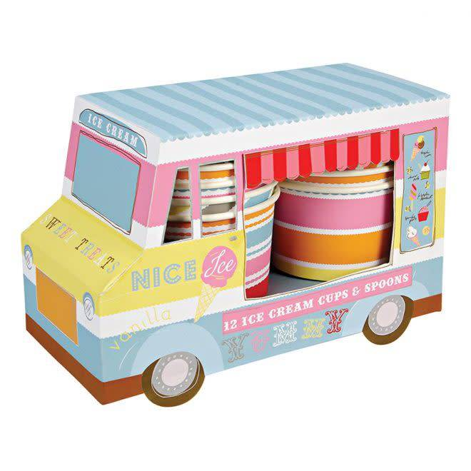 MERIMERI ice cream van with cups and spoons