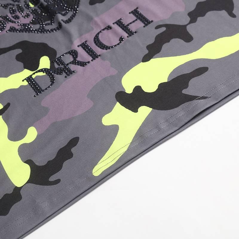 D-Rich Army skull Yellow (kids)