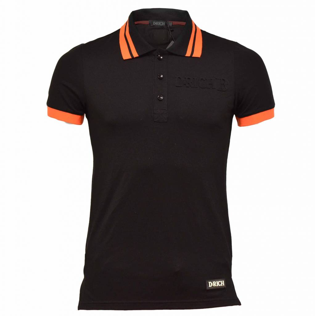 D-Rich Camo Skull Polo back Orange