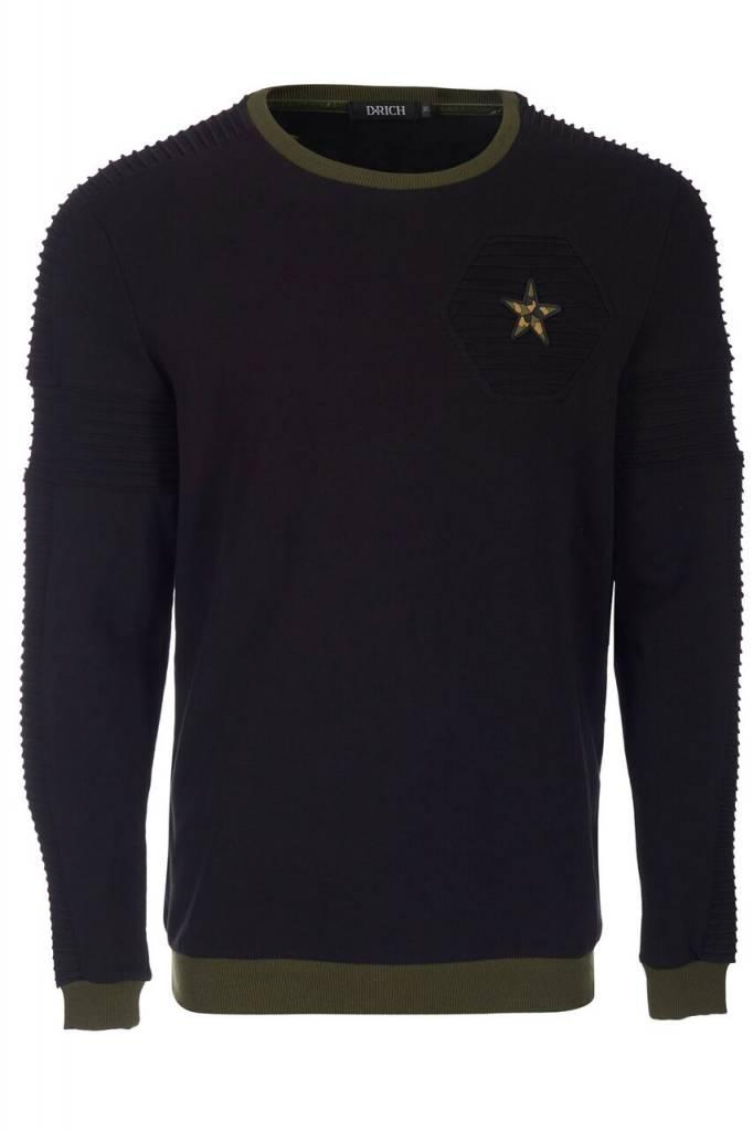 D-Rich Biker Star Sweater