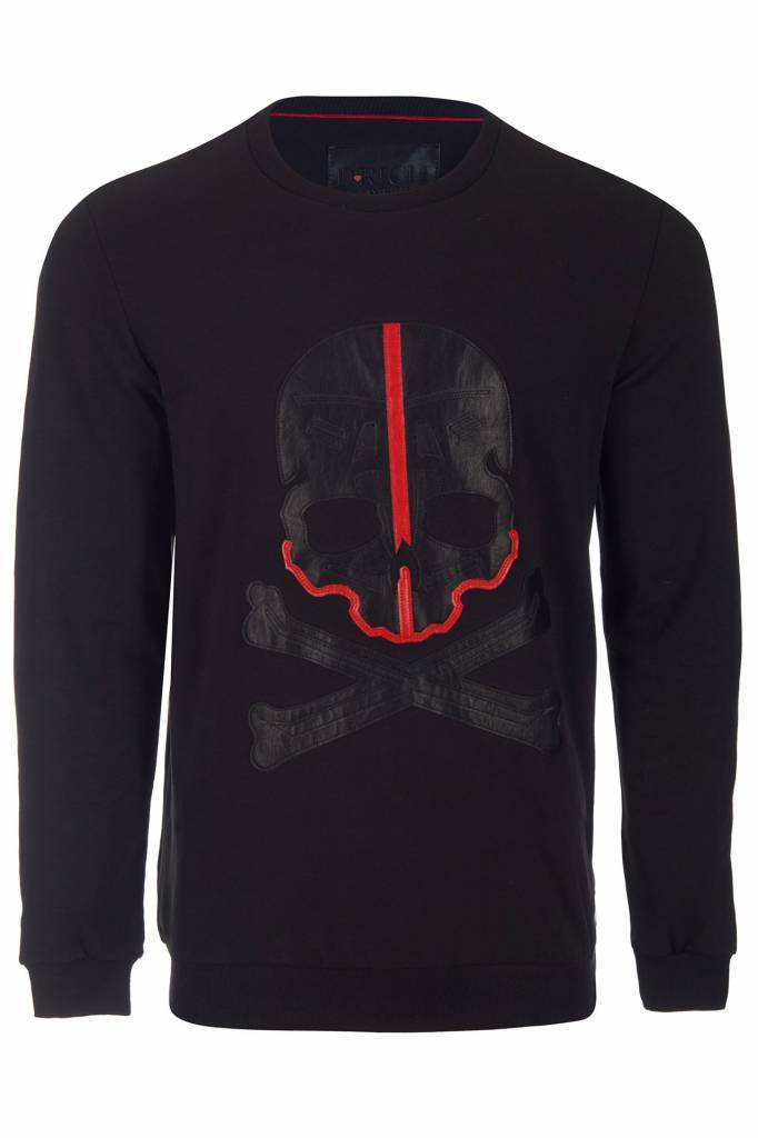 D-Rich Red Skull Sweater