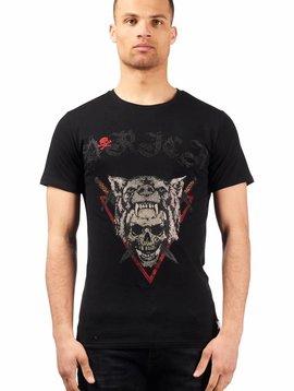 D-Rich Wolf Skull Black