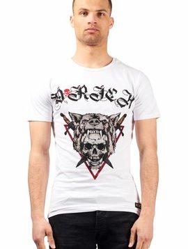 D-Rich Wolf Skull White