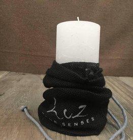 Luz Your Senses Geschenktip!  kaars in jutte zakje