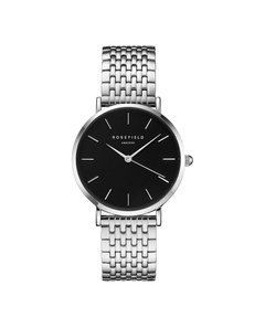 Rosefield THE UPPER EAST SIDE BLACK SILVER HORLOGE UEBS-U25