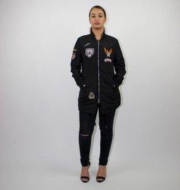 Long Bomberjacket Black
