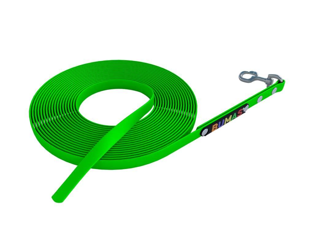 BUMAS - das Original. BUMAS – sport – correa larga de BioThane® en verde neón