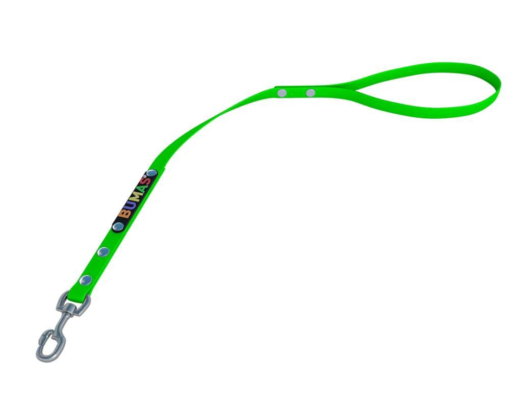 BUMAS - das Original. BUMAS – control – correa corta de BioThane® en verde neón