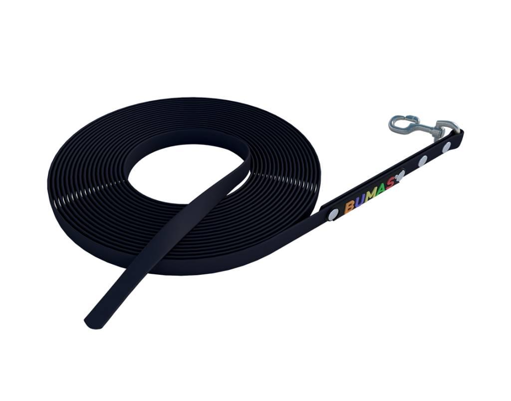 BUMAS - das Original. BUMAS - sport - BioThane® Schleppleine in schwarz