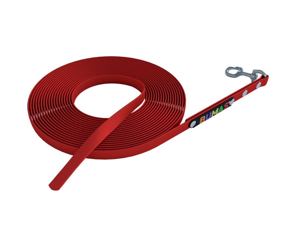 BUMAS - das Original. BUMAS - sport - BioThane® Schleppleine in rot
