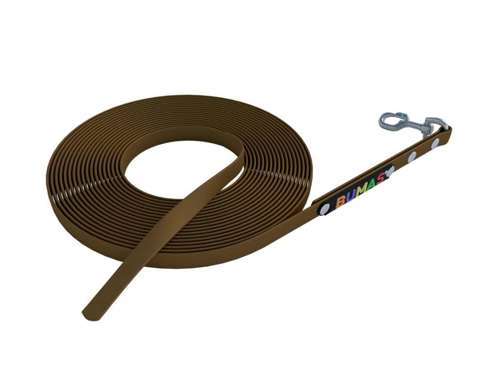 BUMAS - das Original. BUMAS – sport – correa larga de BioThane® en marrón