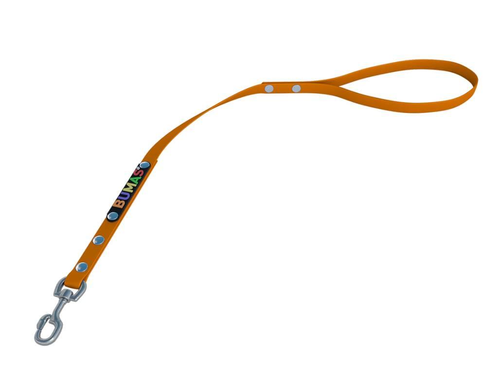 BUMAS - das Original. BUMAS - control - der Kurzführer aus BioThane® in orange