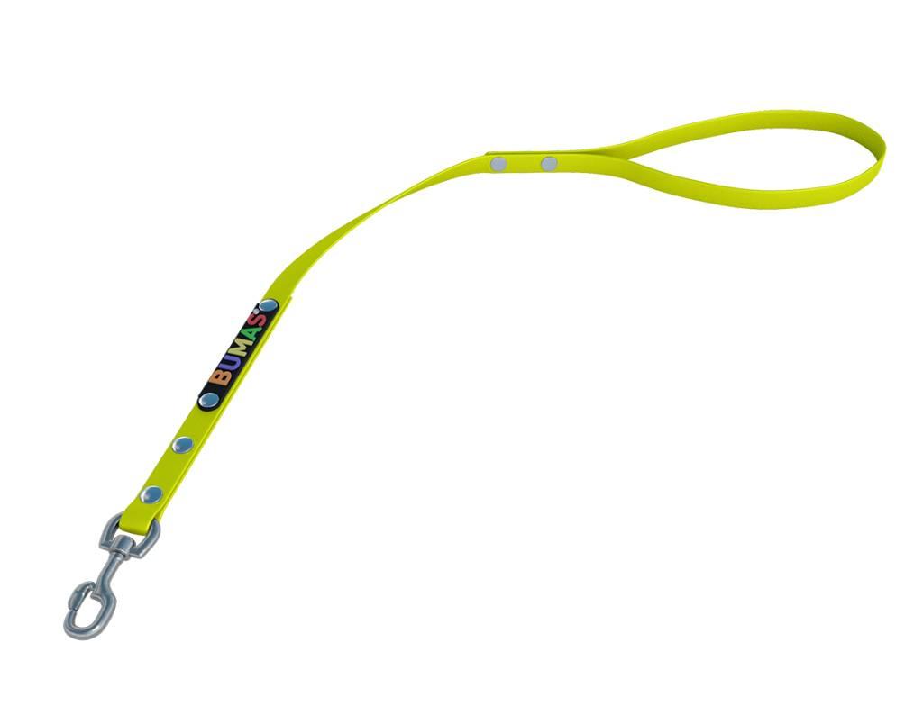 BUMAS - das Original. BUMAS – control – correa corta de BioThane® en amarillo neón