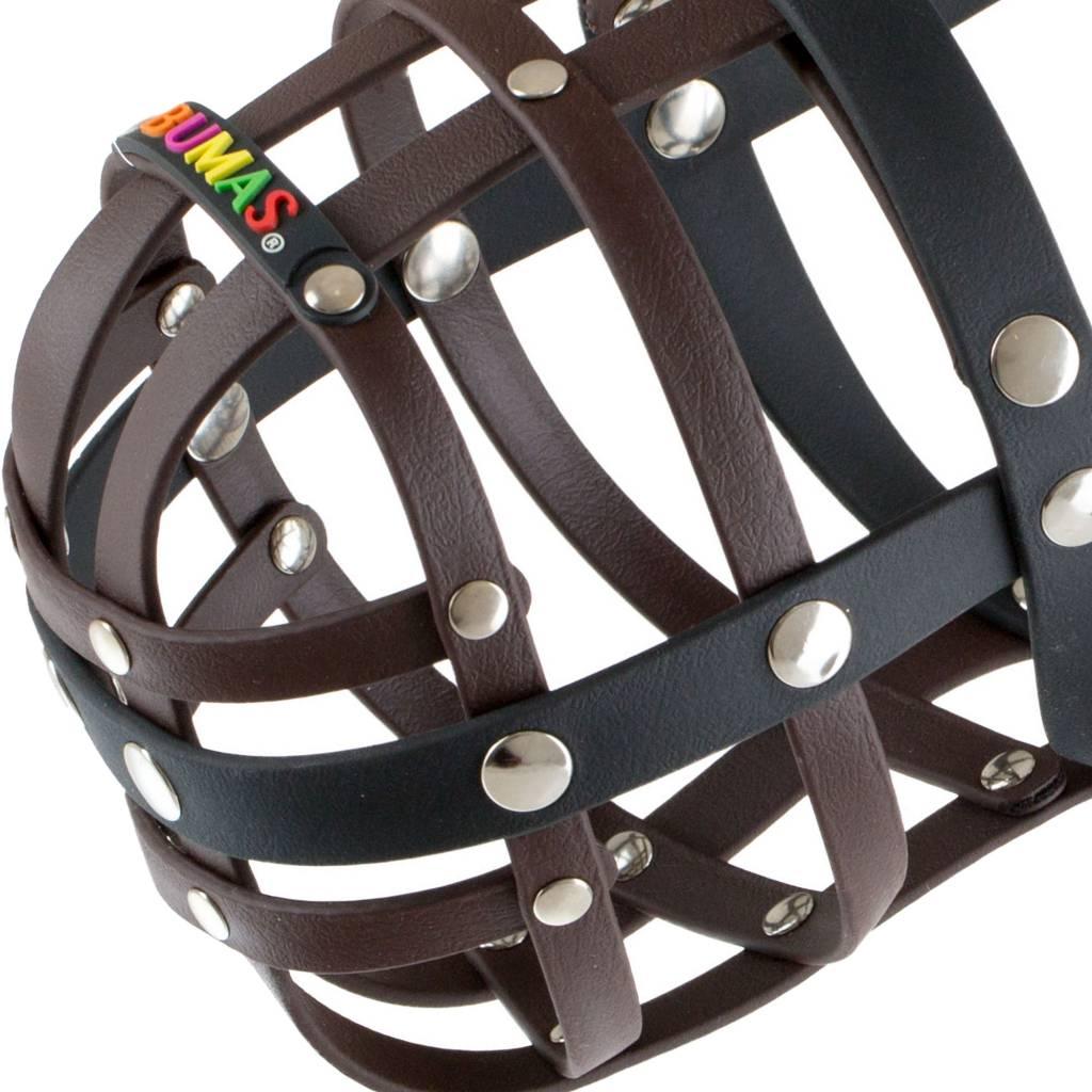 BUMAS - das Original. BUMAS Muzzle for St. Bernards made of BioThane®, brown/black