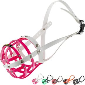 BUMAS Muzzle Boxer, pink/white