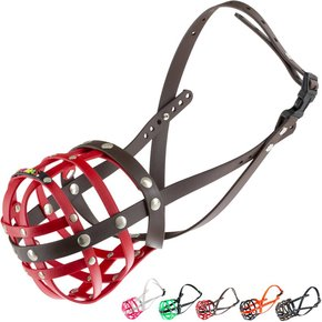 BUMAS Muzzle Dalmatian, red/brown