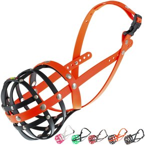 BUMAS Muzzle Dalmatian, black/neon orange
