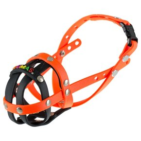BUMAS muzzle Size 0, black/neon orange