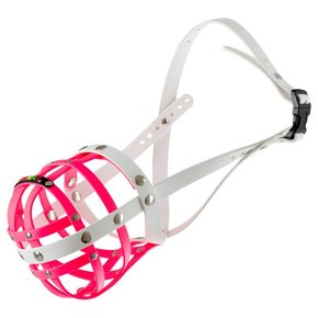 BUMAS muzzle Size 7, pink/white