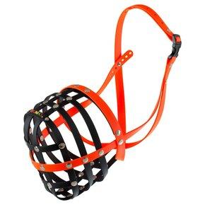 BUMAS muilkorf maat 12, zwart/oranje
