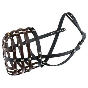 BUMAS muzzle Size 12, brown/black