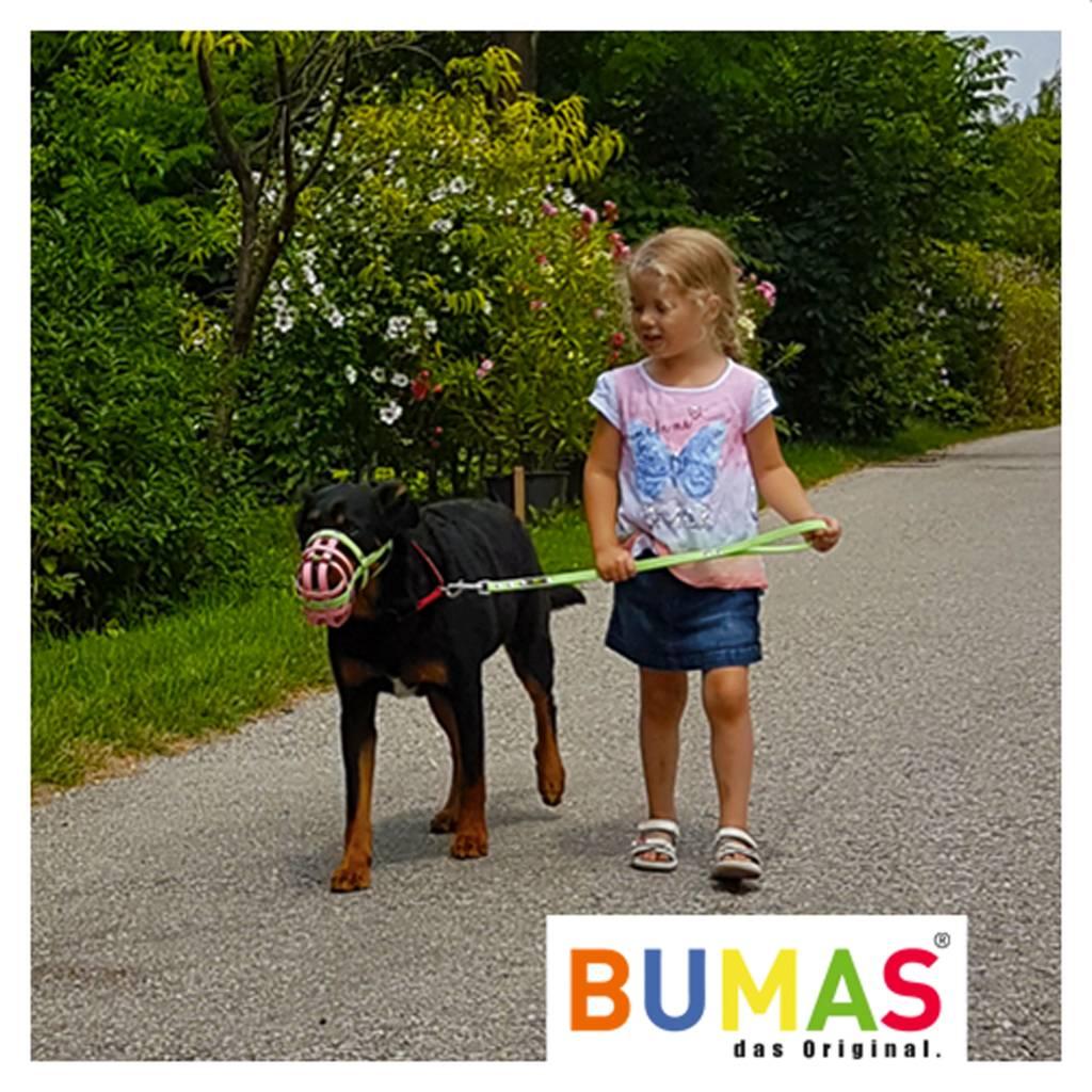 BUMAS - das Original. BUMAS - control - der Kurzführer aus BioThane® in hellbraun