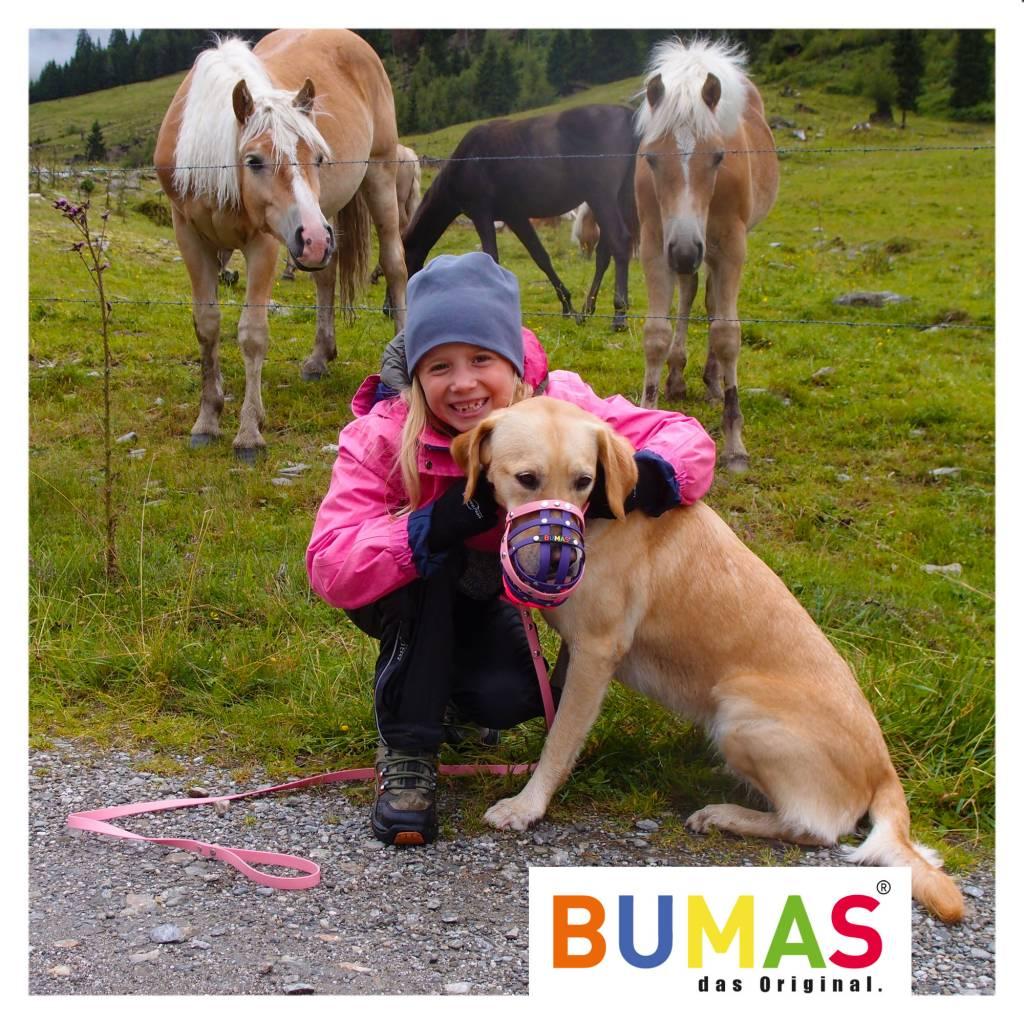 BUMAS - das Original. BUMAS - easy going - leash made of BioThane® in neon orange